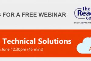 FREE WEBINAR – Azure Technical Solutions – Tue 5th June 2018