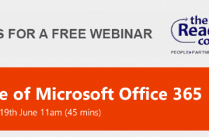 FREE WEBINAR – Value Of Microsoft Office 365 – Tue 19th June 2018