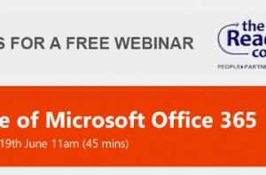 FREE WEBINAR – Value Of Microsoft Office 365 – Tue 19th June 2018
